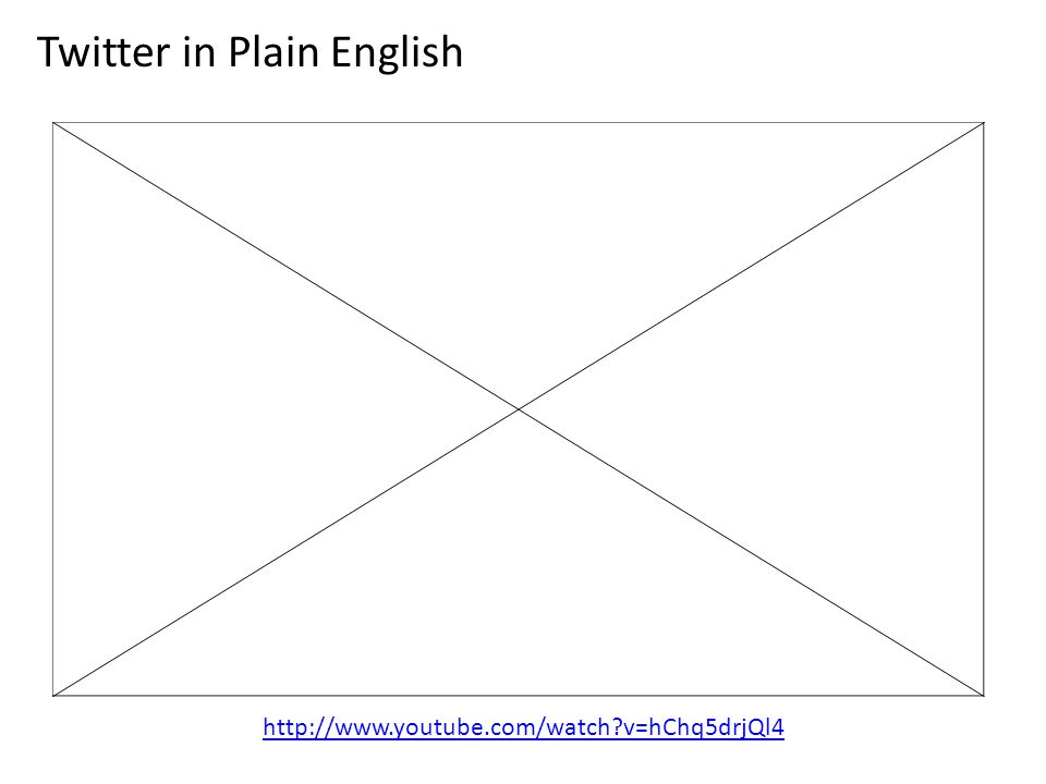 http://www.youtube.com/watch v=hChq5drjQl4 Twitter in Plain English