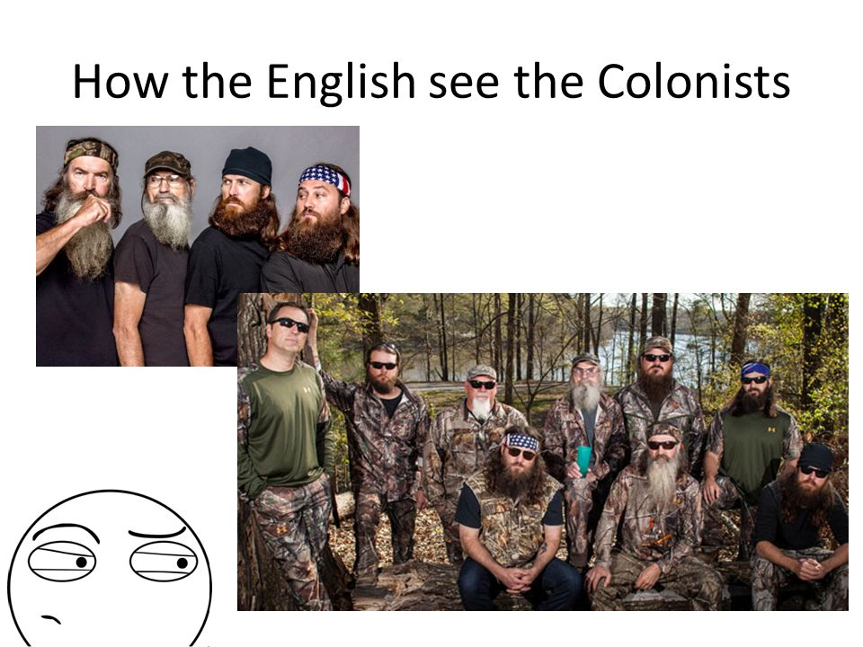 How the English see the Colonists