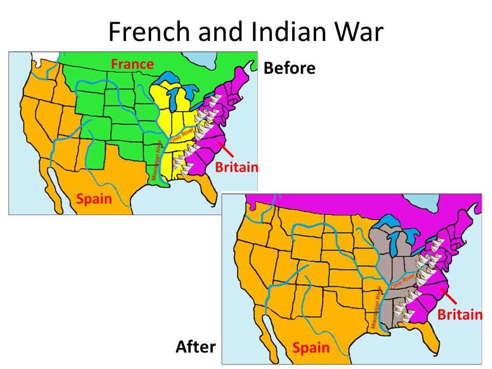 French and Indian War Before After