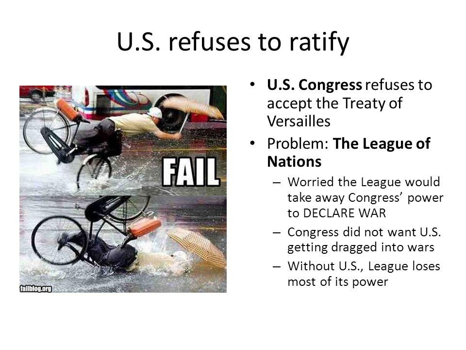 U.S. refuses to ratify U.S.