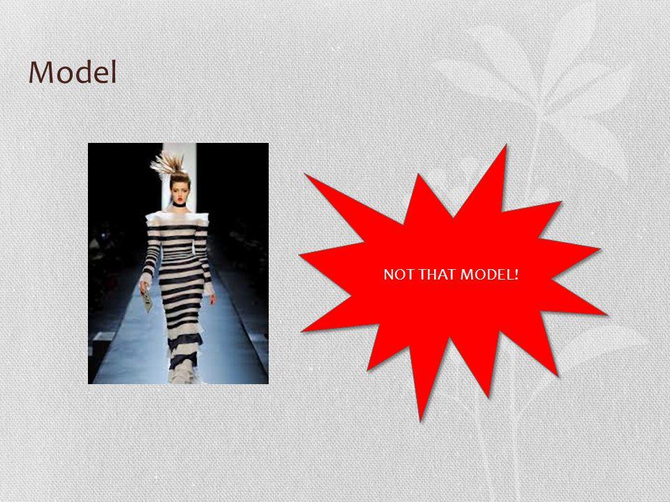 Model NOT THAT MODEL!