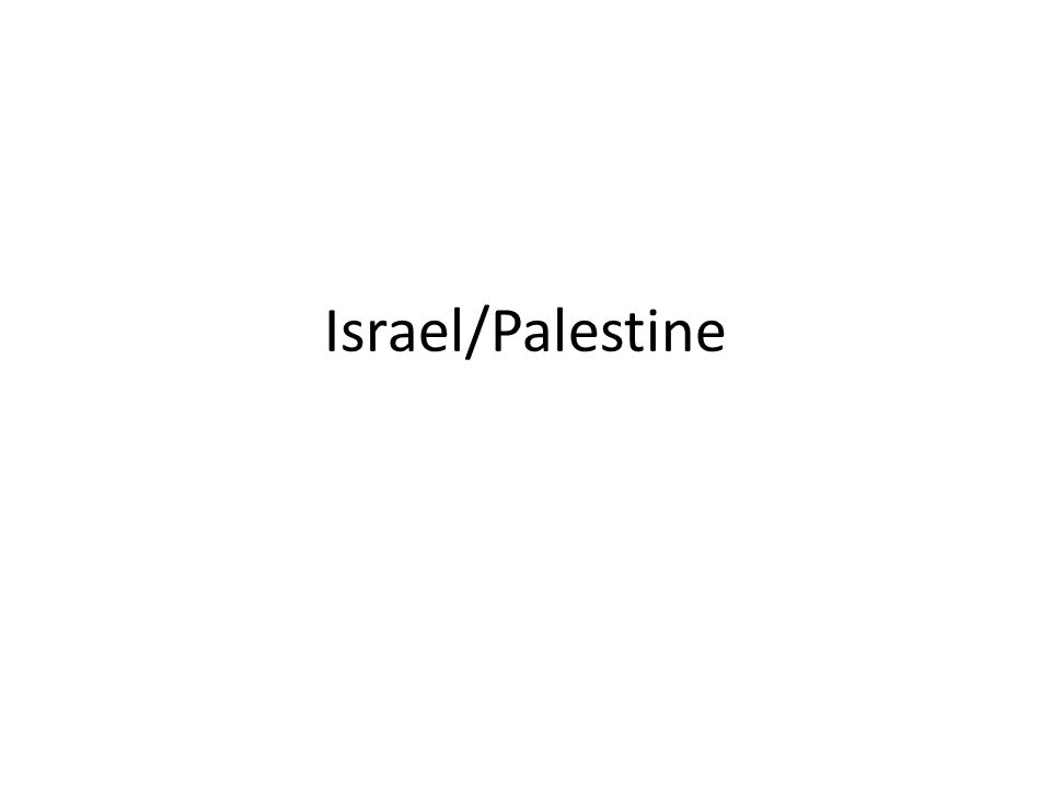 1947 Britain had ruled the area of Palestine since 1920 – Remember: Palestine is not a country – After WWII, many Jews return to the area seeking a home – Handed over responsibility to the UN – Recommended splitting the territory into 2 separate states