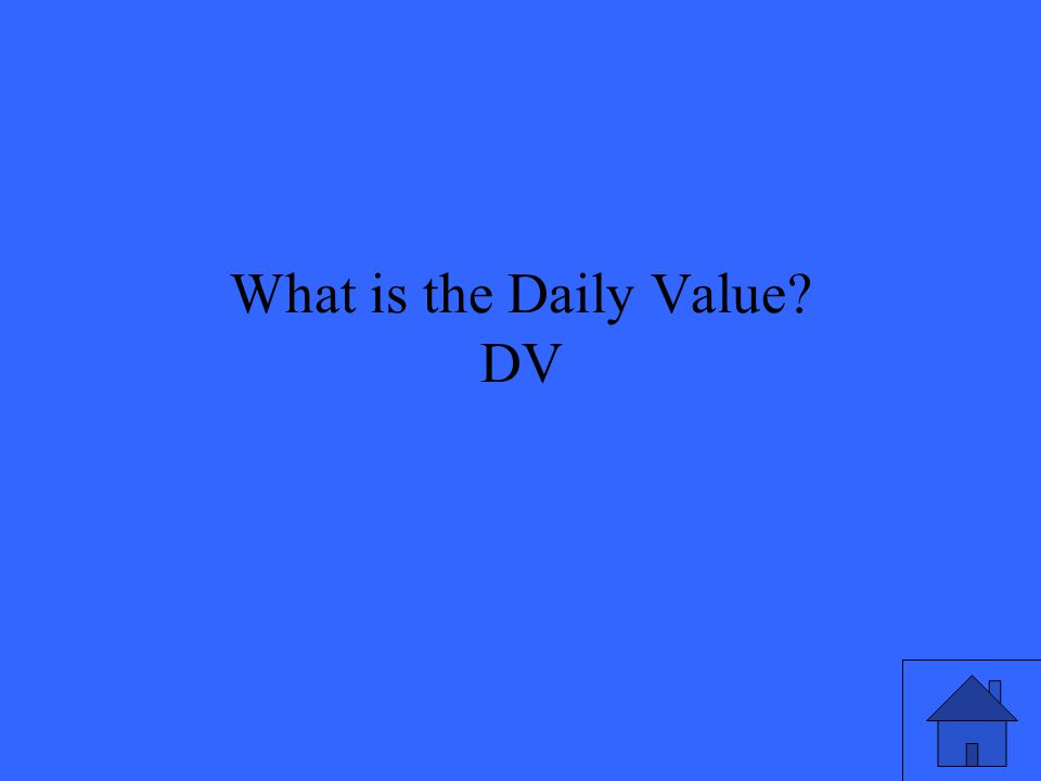 What is the Daily Value? DV