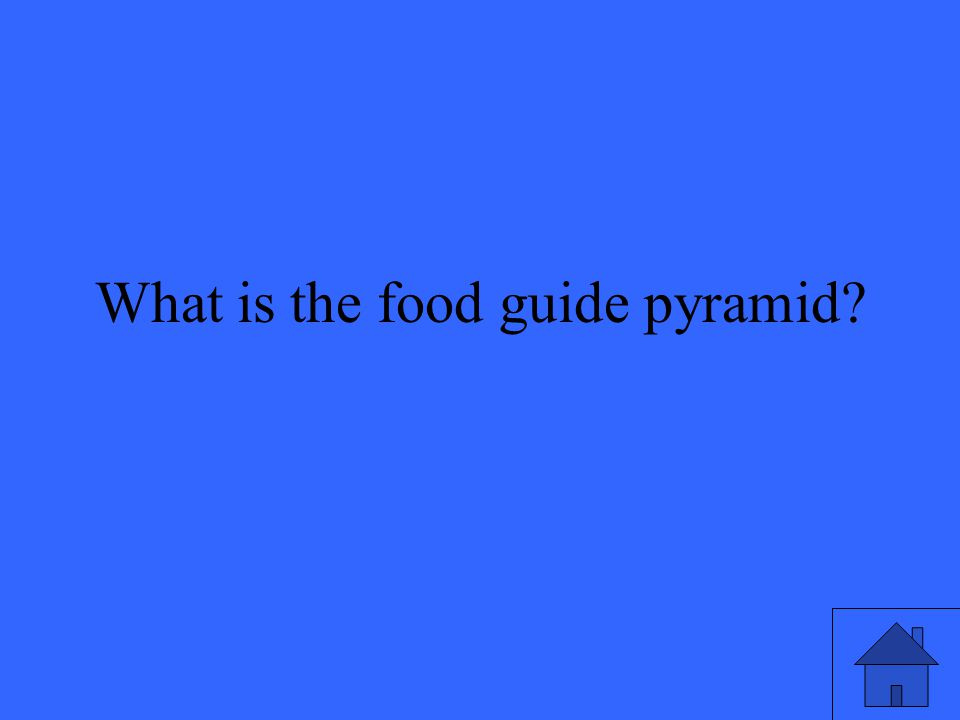 What is the food guide pyramid?
