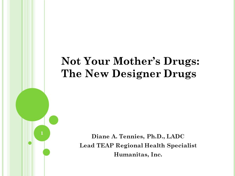 Not Your Mother's Drugs: The New Designer Drugs Diane A.