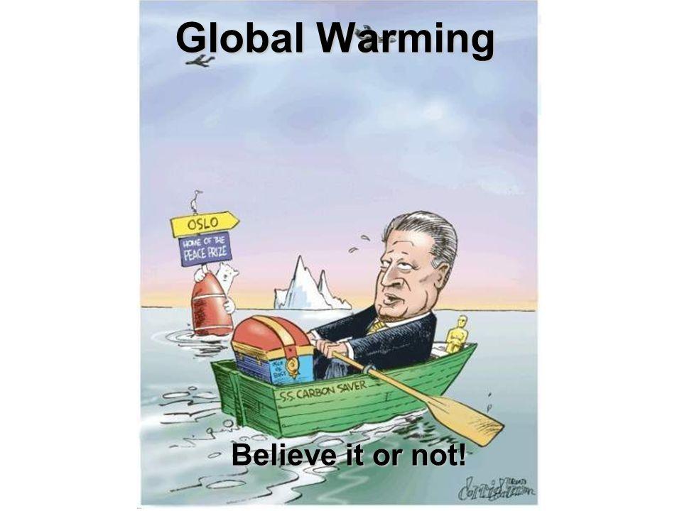 Global Warming Believe it or not!