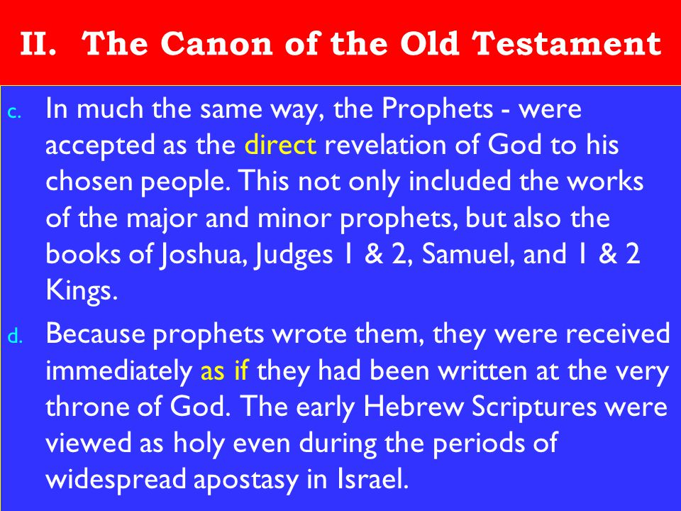 11 II.The Canon of the Old Testament c.