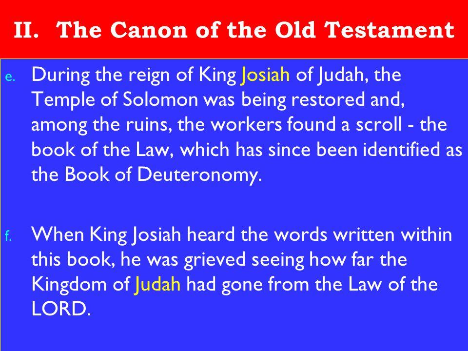 12 II. The Canon of the Old Testament e.