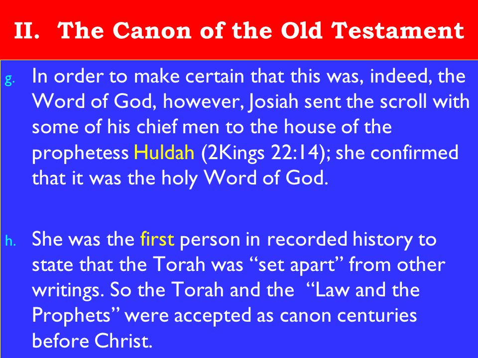 13 II. The Canon of the Old Testament g.
