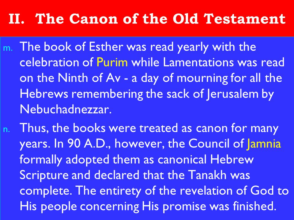 16 II.The Canon of the Old Testament m.