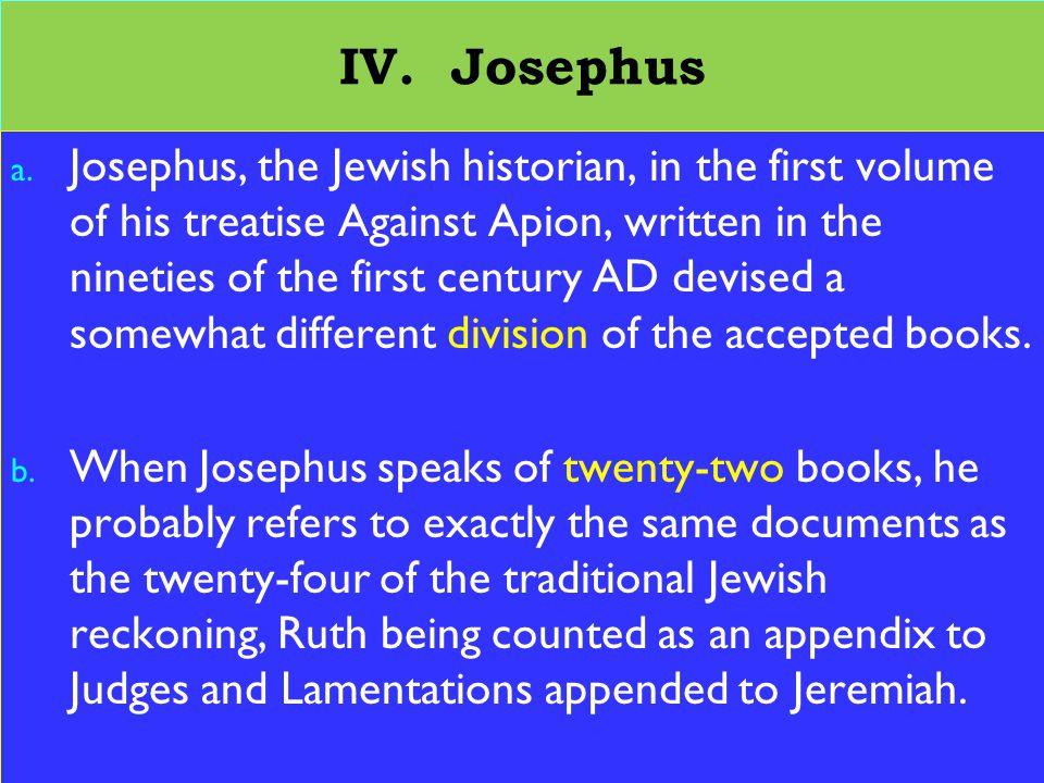 23 IV. Josephus a.