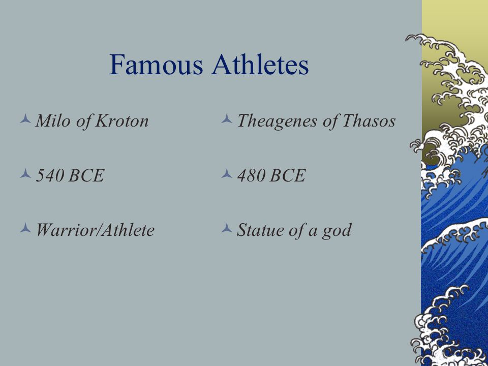 Zeus, the Olympic God Games were part of a religious festival to honor Zeus Geographical convenience of Olympia