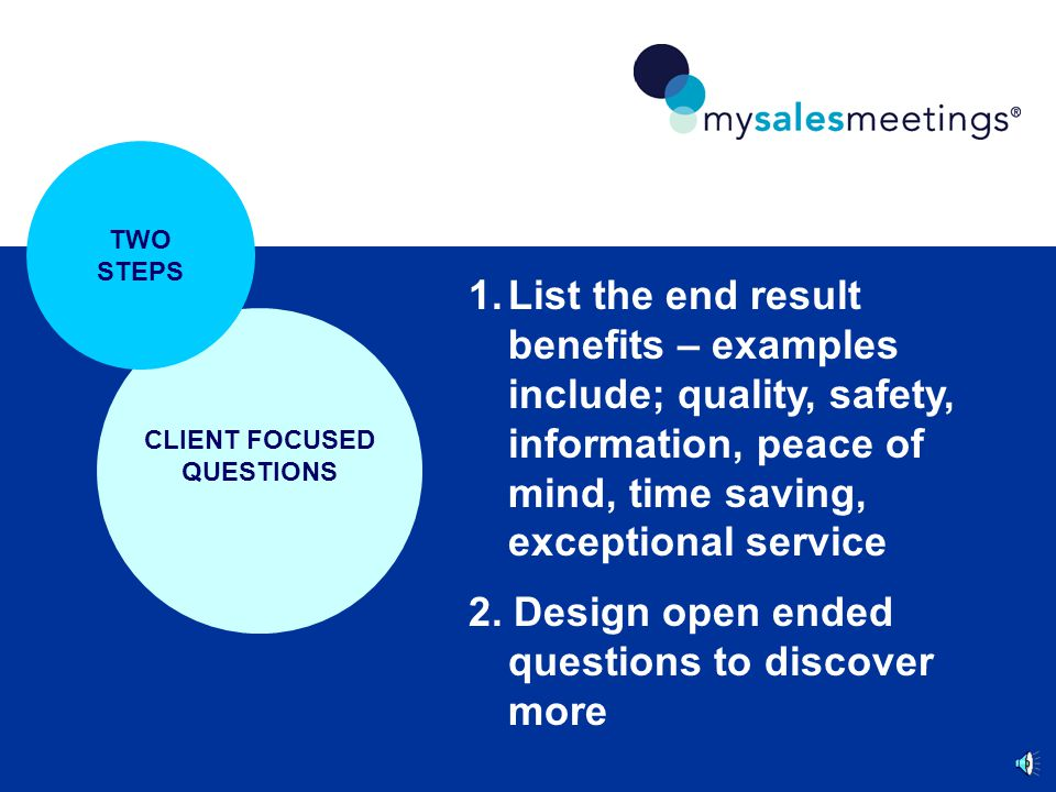 CLIENT FOCUSED QUESTIONS CHECKLIST 4.