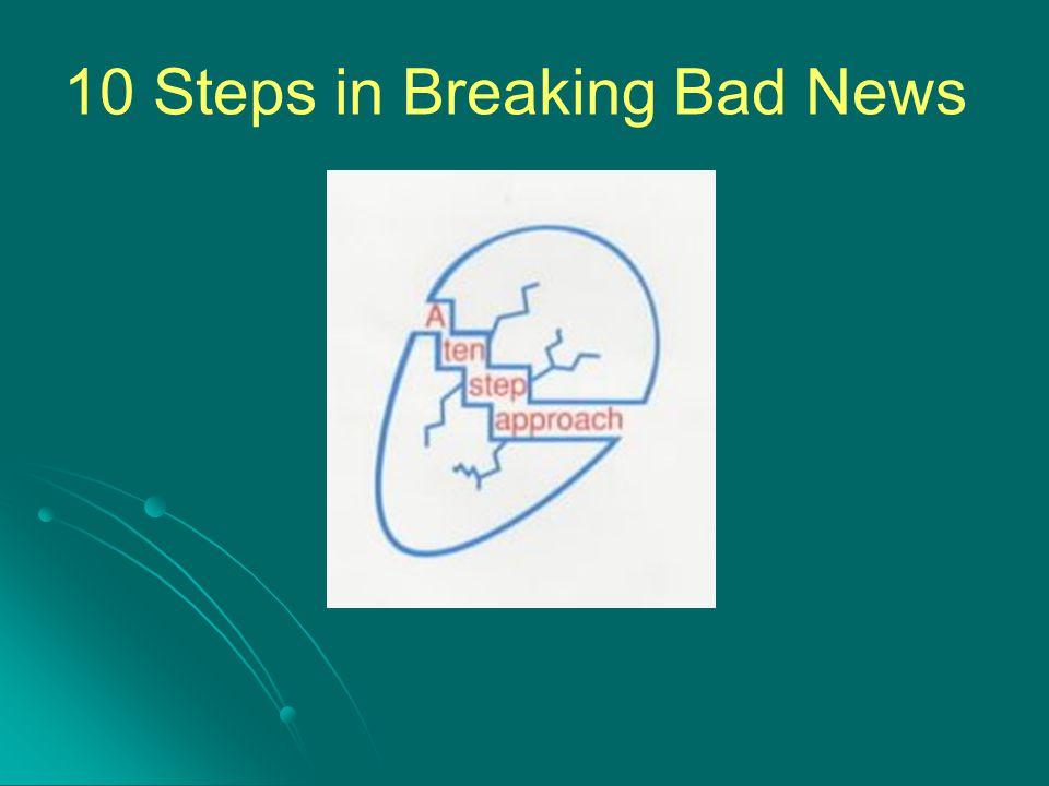 10 Steps in Breaking Bad News