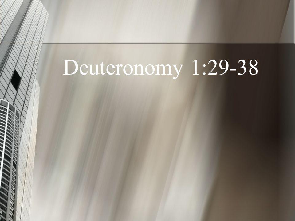 Deuteronomy 1:29-38