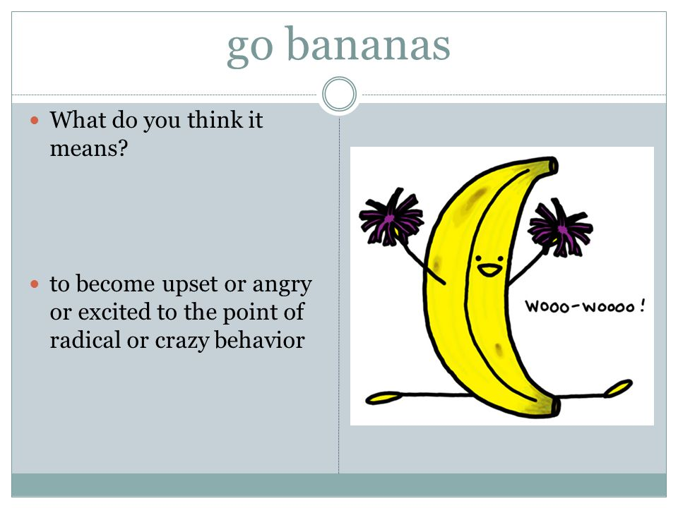 go bananas What do you think it means.