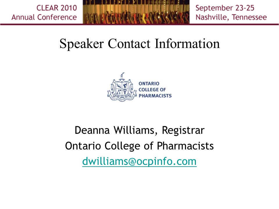 Speaker Contact Information Michelle Z.