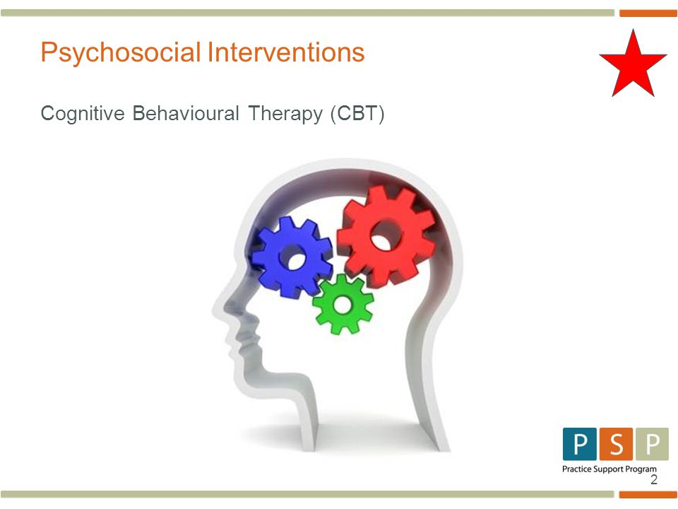 2 Cognitive Behavioural Therapy (CBT) Psychosocial Interventions