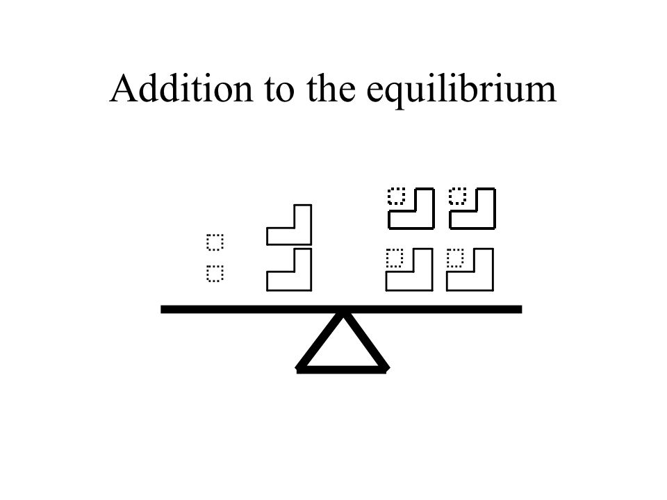 Addition to the equilibrium