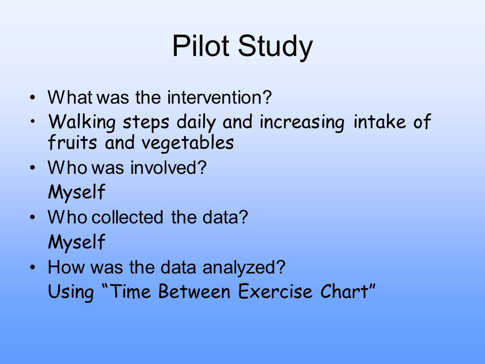 Pilot Study What was the intervention.