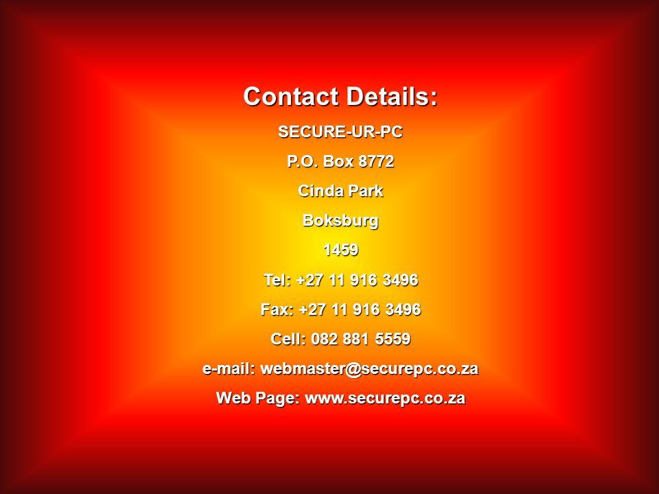 Contact Details: SECURE-UR-PC P.O.