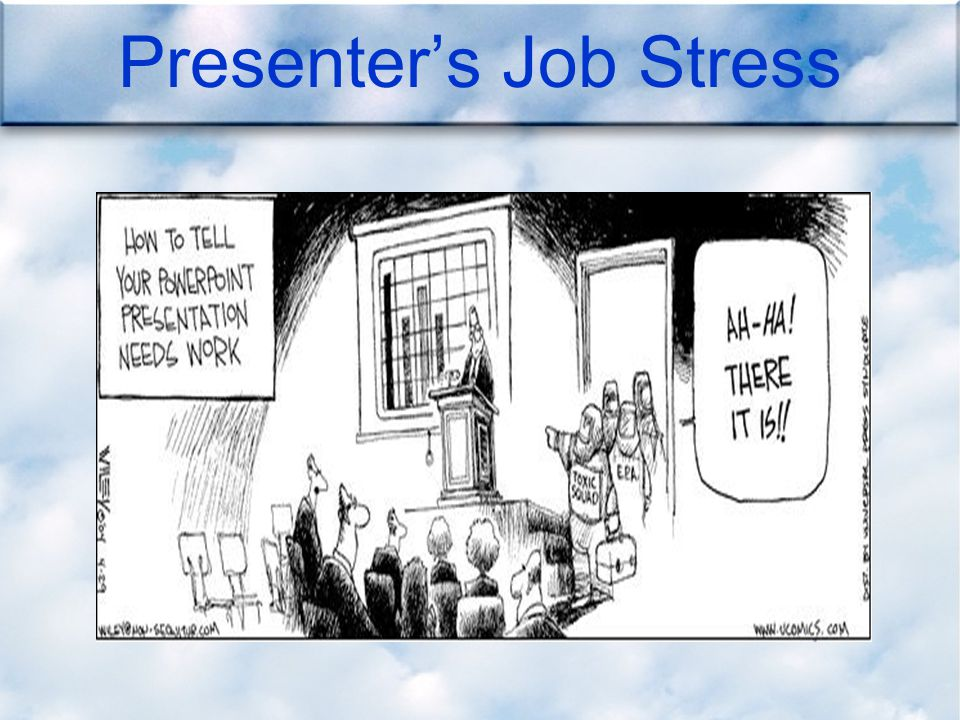 Presenter's Job Stress