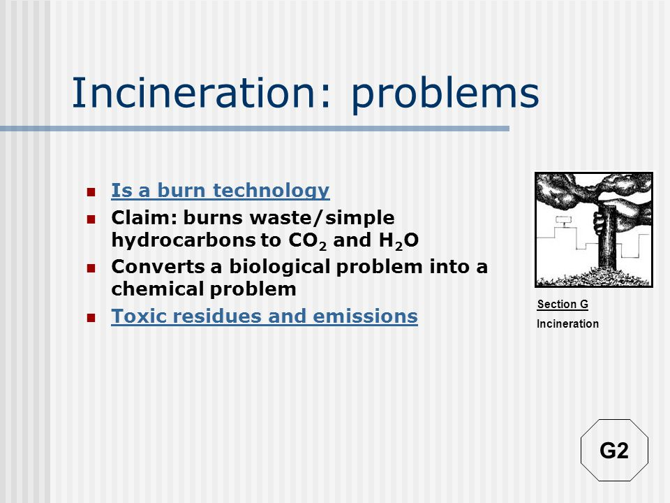 Section G Incineration Decline in medical waste incinerators in USA G1