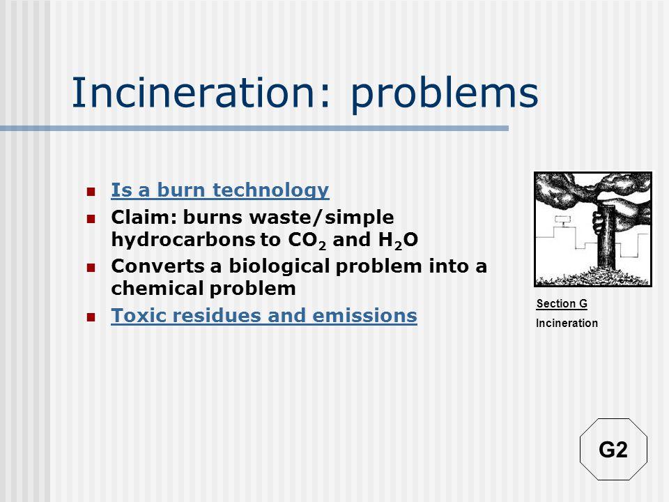 Section G Incineration Incineration: A burn technology