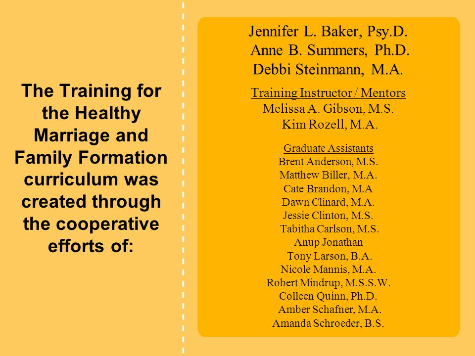 Jennifer L.Baker, Psy.D. Anne B. Summers, Ph.D. Debbi Steinmann, M.A.