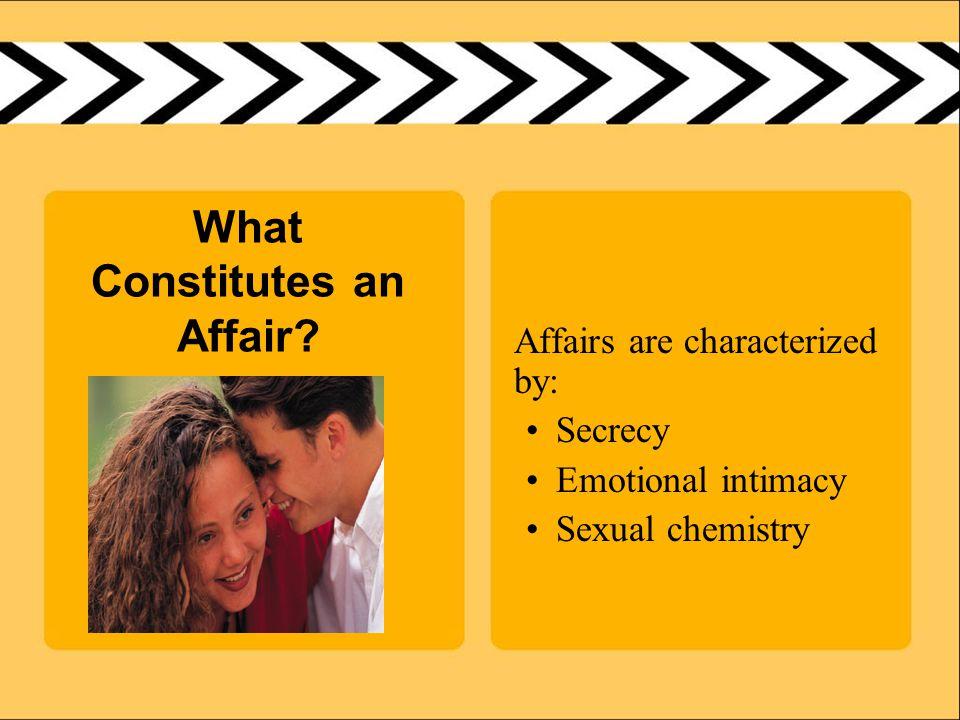 What Constitutes an Affair.