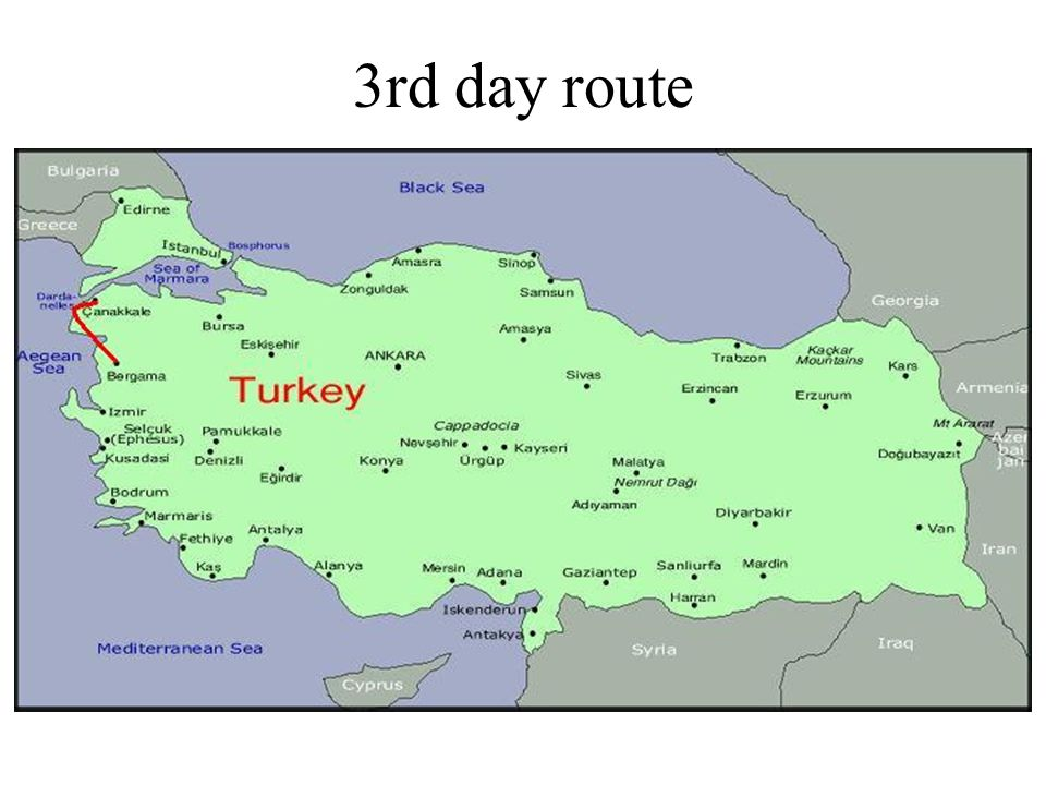 3rd day route