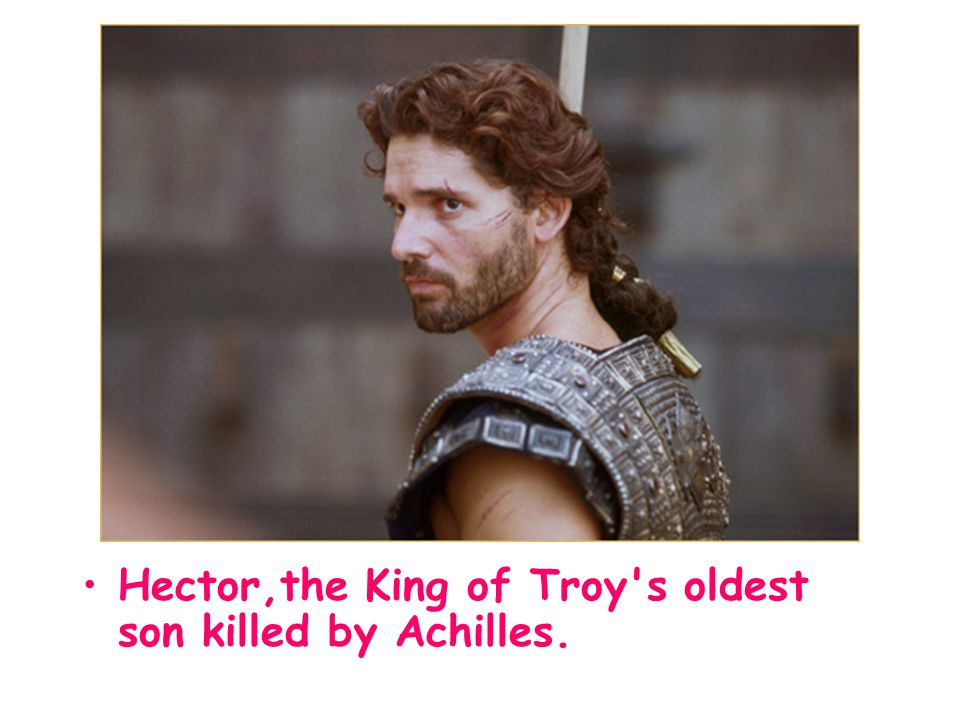 Hector,the King of Troy's oldest son killed by Achilles.