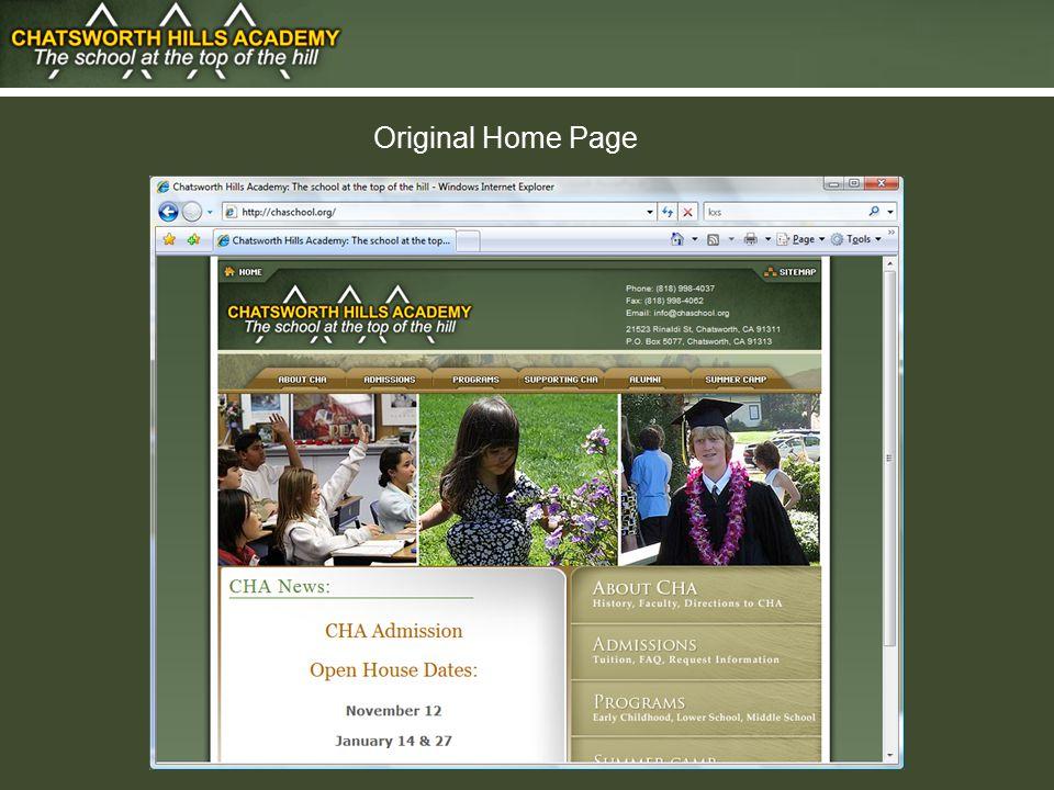 Original Home Page