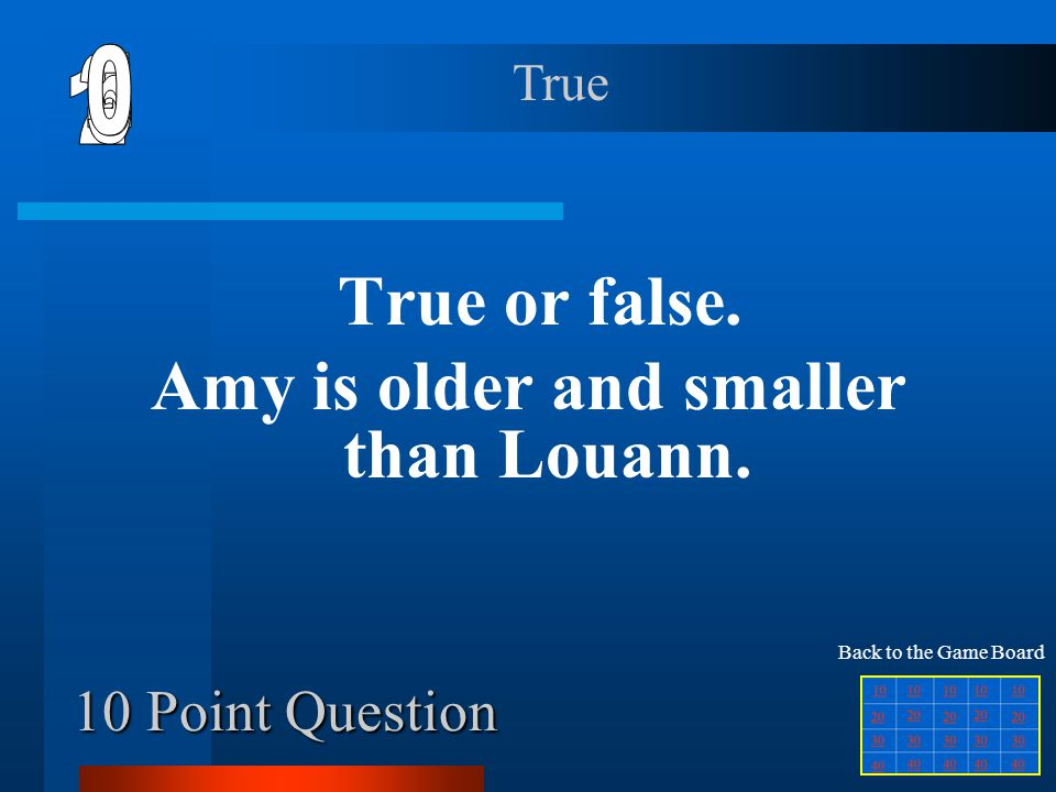 30 Point Question Who helped Amy change her mind about Louann being at the party.