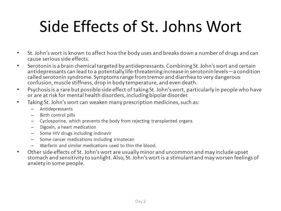 Side Effects of St. Johns Wort St.