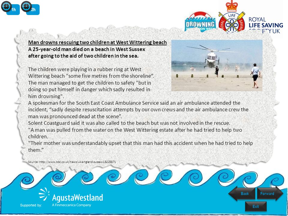 Think about the dangers In your groups draw a beach and as many hazards as you can think of.