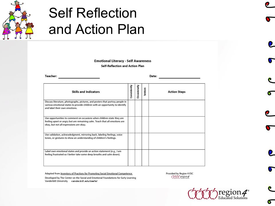 Self Reflection and Action Plan