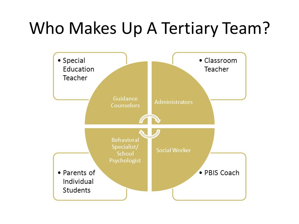 Who Makes Up A Tertiary Team.