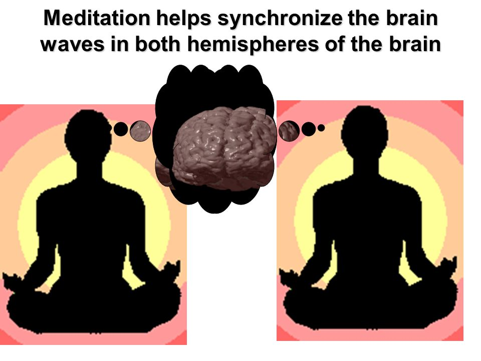 Meditation helps synchronize the brain waves in both hemispheres of the brain