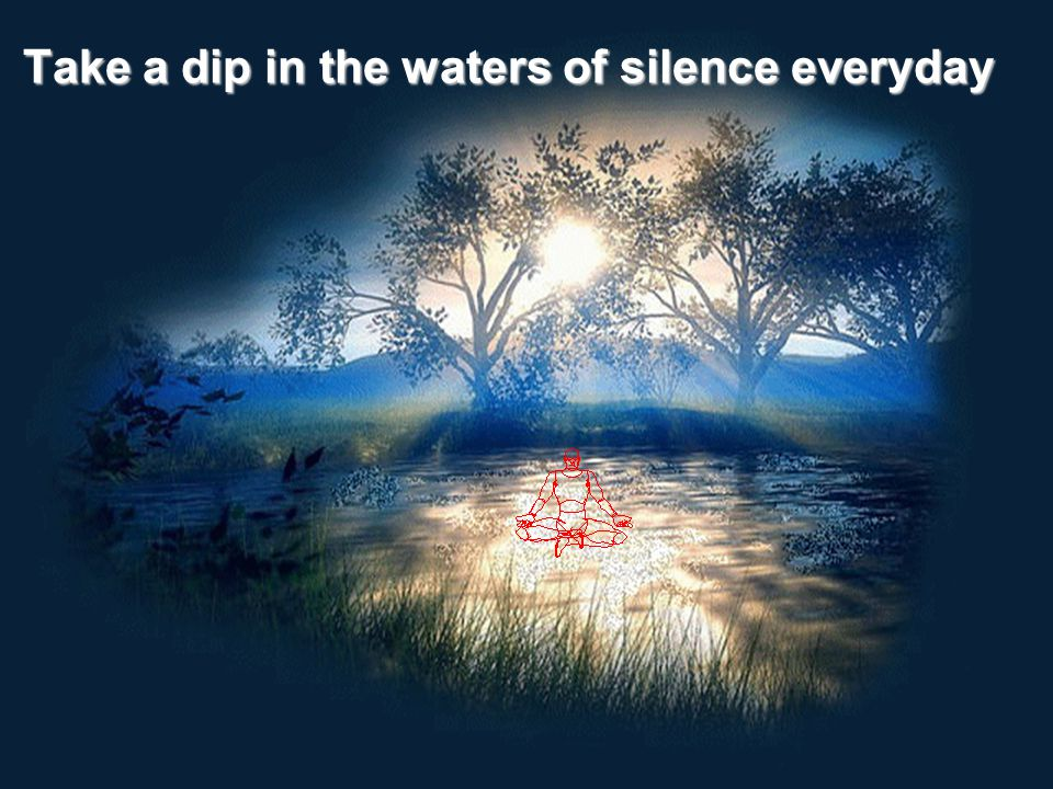 Take a dip in the waters of silence everyday