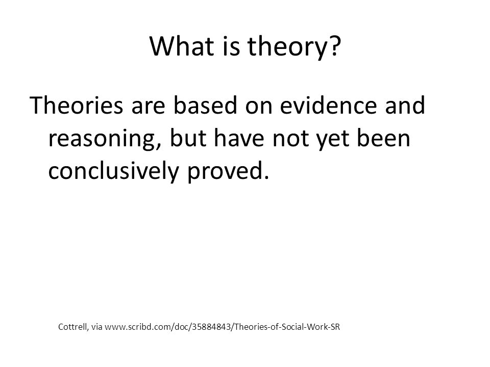 Theory is important because Theory provides a way of understanding something complicated or difficult