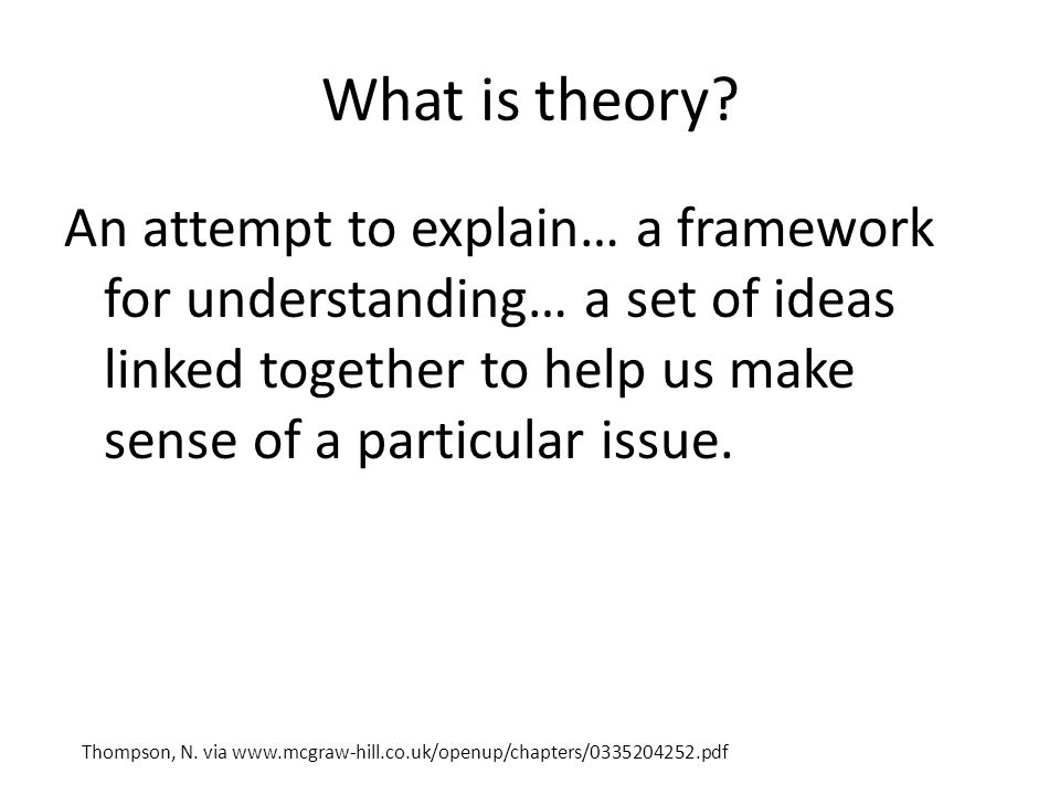 What is theory.