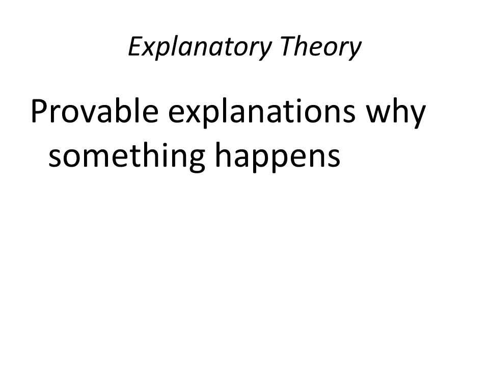 Theory is important because Theory can help avoid discrimination