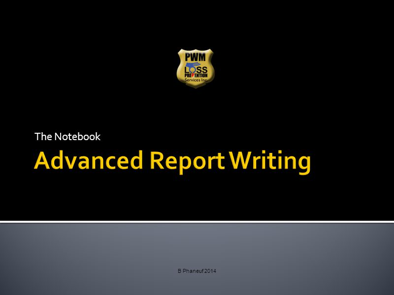 Report Writing Security guards are required to complete written reports of occurrences, duties performed and comprehensive descriptions of their tasks/observances.