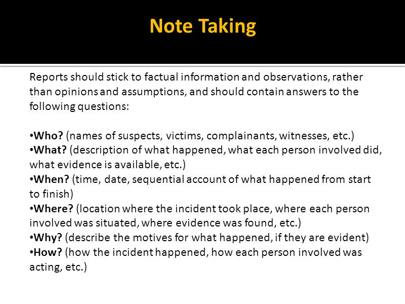 Note taking factors continued If you follow these guidelines, your notebook will look clean and well organized.