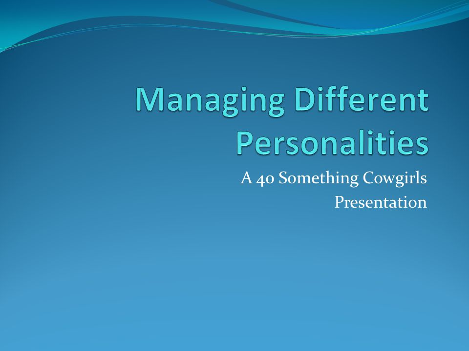A 40 Something Cowgirls Presentation