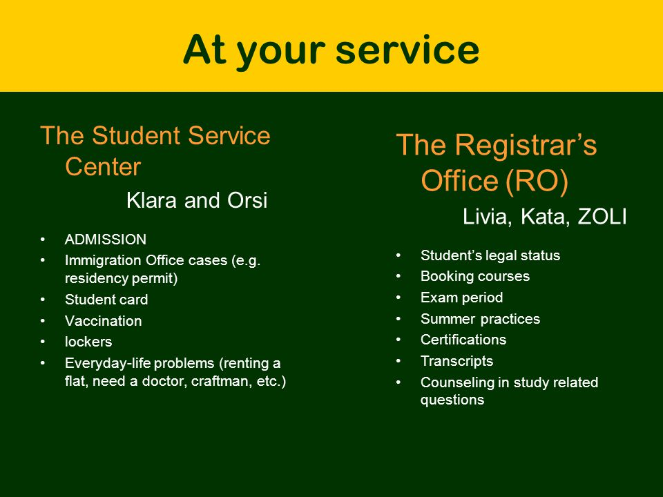 Credit System Rules - 1 credit = 14 class hours (generally…) -Get 30 ± 3 credits in each semesters -Collect at least the minimum number of credits to get the degree (360 / 300 points) -No years (first year, etc.).