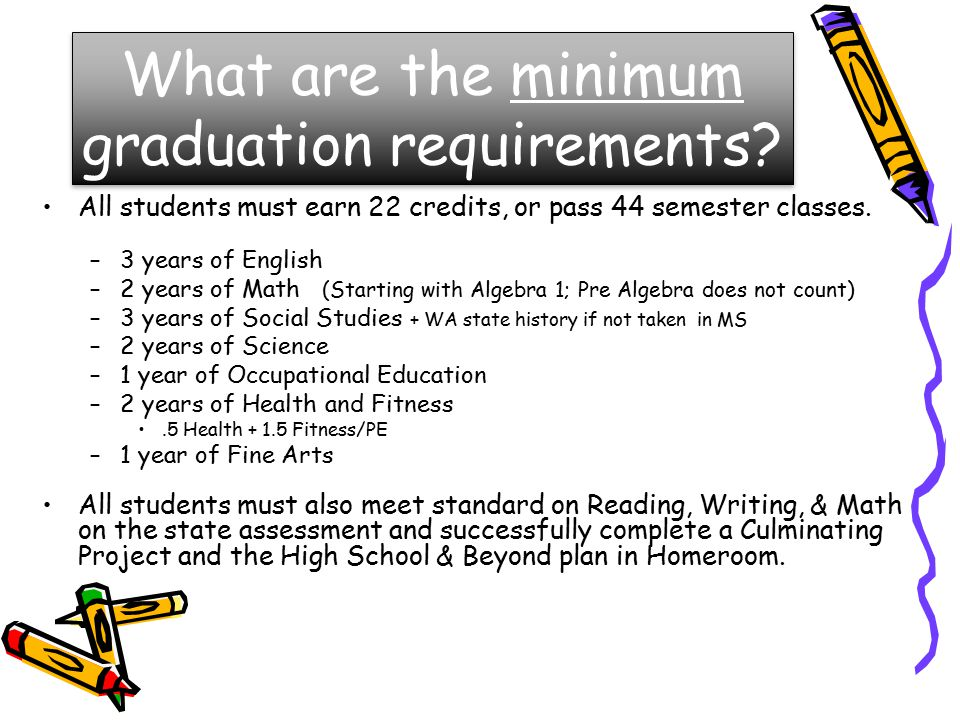 What are the minimum graduation requirements.