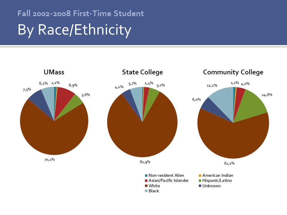 Fall 2002-2008 First-Time Student By Race/Ethnicity