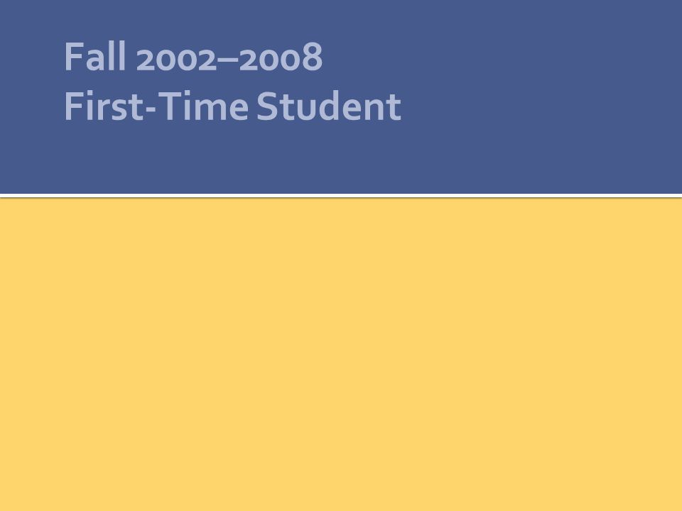 Fall 2002–2008 First-Time Student